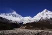 links Manaslu - mitte Manaslu North 7157m - rechts Naike Peak 6211m