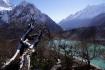 unterwegs zum Manaslu Base Camp - erster Rückblick auf den Gletschersee Birendra Tal