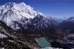 im Hintergrund Samdo Peak und Pambuche Himal (um die 6500m) und Rückblick ins Tal des Budhi Gandaki