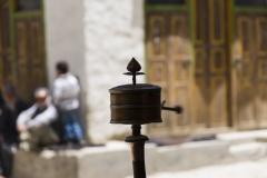 prayer wheel turning for a good karma..