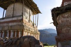 stupas in Tangge, 3240m.. I