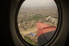 over Kathmandu again..