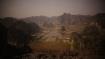 Blick über die brach liegenden Reisfelder