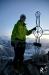 kurz vor Sonnenaufgang den Gipfel des Oberaarhorns erreicht - ein eiskalter aber wunderschöner Start in den Tag!