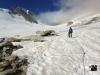 vom Oberaarjoch über den Oberaargletscher hinunter zum Grimselpass