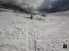 Letzte Gletscherpassage - über den Oberaargletscher