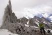 Fuorcla da Strem Sura - die oberste Abstiegslücke über den Grat der Stremhörner (hinten) ins Val Strem