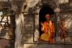 Wandernder Sadhu, welcher hier in Pashupatinath einen ein-Raum-Tempel