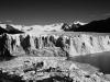 die Spitze der Gletscherzunge