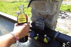 Auf der Alp Sardasca gibt's einen Brunnen mit Bier, Sirup und eine Bar im Stall - ganz schön innovativ sind die Bündner!