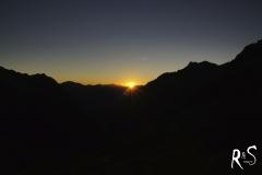 sunset over the Silvretta hut...