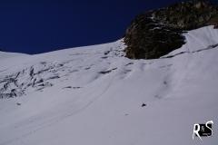 Rückblick auf den Abstieg zwischen Signal- und Egghorn