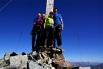 Knappe Platzverhältnisse auf dem Gipfel des Silvrettahorns