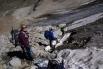 Im Abstieg auf dem Ochsentaler Gletscher - bald haben wir das Eis, jedenfalls für heute, hinter uns gebracht.