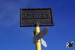 auf der Grenze Österreich - Schweiz