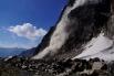 ...ein grosser Felssturz an der Ostwand des Piz Buin