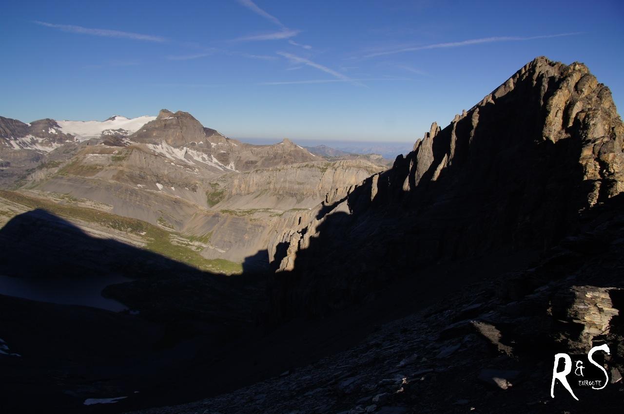 links hinten Wildstrubel, rechts vorne Klein Rinderhorn