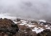 Sicht vom Gipfel auf die Aufstiegsroute