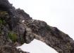 das letzte Stück auf den Gipfel geht über Fels