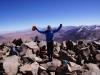 Geschafft - auch wenn ein Murks, ein schönes Erlebnis - in der Hand das Gipfelbuch..