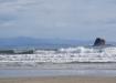 Playa Hermosa - im Hintergrund Küste Costa Ricas