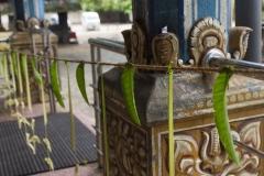 Vorbereitungen für ein bevorstehendes Hindu-Fest