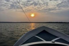 ..beschert uns einen prächtigen Sonnenaufgang in der Lagune - Morgenstund hat Gold im Mund