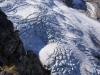 Gletscherabbruch des arg abschmelzenden Steigletschers