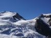 Durch die Tierberglücke (Bildmitte) kann man zur Trift- oder Windegghütte am Triftgletscher gelangen