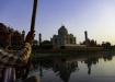 Taj Mahal vom Yamuna River aus betrachtet..
