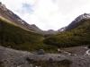 Sicht zum John Gardener Pass - uff, hoffentlich werden die Berggötter gute Absichten haben mit uns!