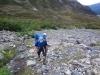 im Aufstieg zum Paso John Gardener - noch ohne Wind