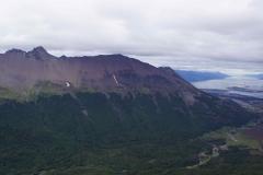 Ushuaia und die dahinter liegende Bergkette