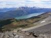 Ausblick auf den Lago Roca und das rotverfärbte Moorgebiet
