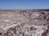 dünner Salzfilm über dem Valle de la Luna