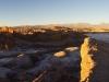 Sicht über das Valle de la Luna und zur Andenkordillere
