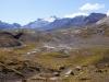 Da sind wir am Morgen oben gestanden und haben nun bereits ca. 8 Stunden hinter uns gebracht (jetzt im Aufstieg zu den Wildstrubelhütten) - Sicht zum WIldhorn, Plan des Roses