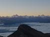 Wahnsinniger Ausblick auf die Wallis 4000er (rechts der Mitte ist das Matterhonr und die Dent Blanche)