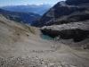Etwas weiter östlich quert man dann das Felsband - und steigt via Schnidejoch (eine Art Pass) Richtung Wallis ab - hier Lac de Ténéhet (ein Überbleibsel des Glacier de Ténéhet)
