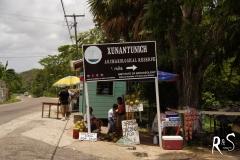 Abzweigung zur Xunantunich-Stätte