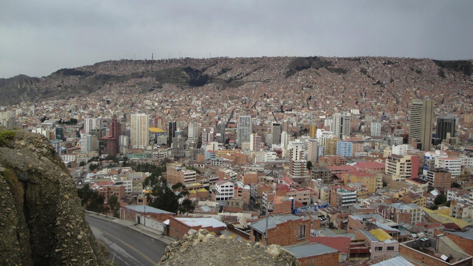 La Paz - durchschnittlich auf 3900m ü.M. klicke zum vergrössern!