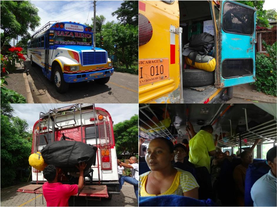 Ausschnitte aus dem öffentlichen Verkehrsleben in Nicaragua
