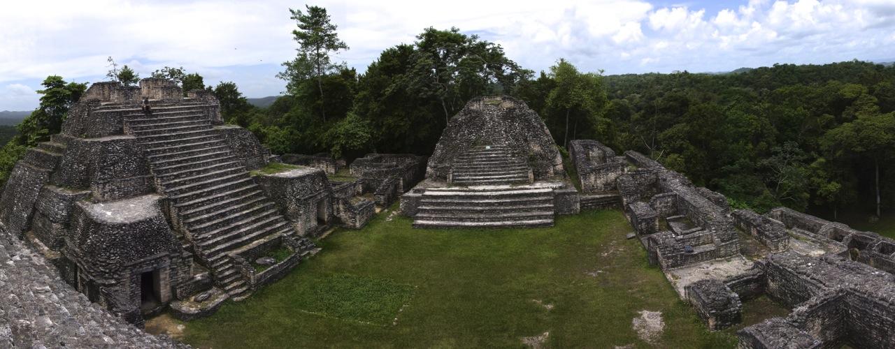 Canaa-Tempel in der riesigen Maya-Stadt Caracol