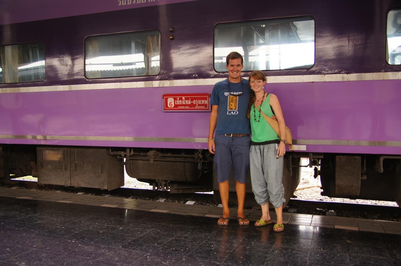 im Liegewagen von Chiang Mai nach Bangkok..