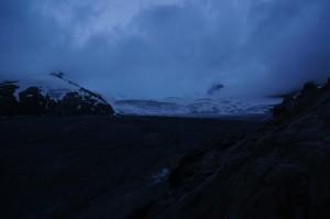 Immernoch leichter Regen, den Gletschereinstieg haben wir aber nach rund 2h gefunden