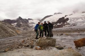 Gauligletscherfoto - statt Gipfelfoto auf dem Rosenhorn -  dennoch sind wir an diesem Abend zufrieden zurückgekehrt!