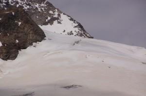 ..doch die heikle Passage über einige schwierig einschätzbare Schneebrücken wären geblieben..