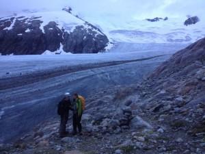 beim Gletschereinstieg