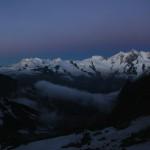 Mischabelgruppe (v.l.n.r.) Im Hintergrund ist die Monte Rosa zu sehen.