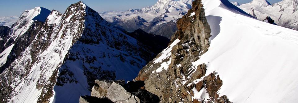 Überschreitung Fletschhorn und hinterrücks auf's Lagginhorn